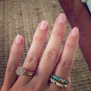 Tiffany & Co - pair of enamel x rings - stackable